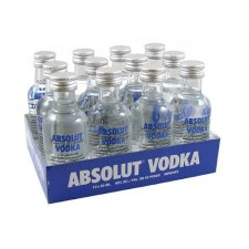 Absolut Blue Vodka Miniatures (12 PACK)