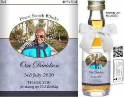 Personalised Miniature Spirit Bottles | Birthday Label: 04