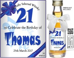 Personalised Miniature Spirit Bottles | Birthday Label: 02