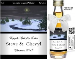 Personalised Alcoholic Miniature with Christmas Label 06