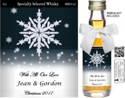 Personalised Alcoholic Miniature with Christmas Label 08