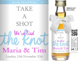 Personalised Miniature Bottles | Wedding Favour Label: 20B