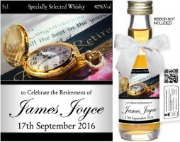 Personalised Miniature Bottles + Retirement Label 01