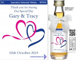 Personalised Alcohol Miniatures - 10% towards Cancer Research