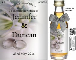 Personalised Miniature Wedding Favour Bottles | Label: 07