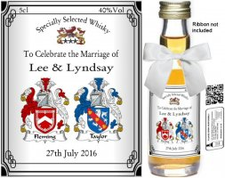 Personalised Miniature Bottles | Wedding Favour Label: 10