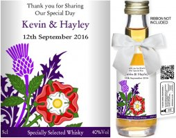 Personalised Miniature Bottles | Wedding Favour Label: 13A