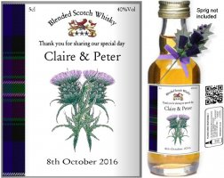 Personalised Miniature Bottles | Wedding Favour Label: 14