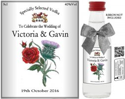 Personalised Miniature Wedding Favour Bottles | Label: 15