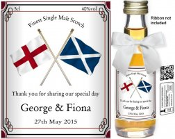 Personalised Miniature Bottles | National Flag Label