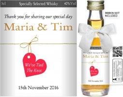 Personalised Miniature Bottles | Wedding Favour Label: 20
