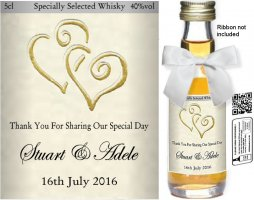Personalised Miniature Alcohol Bottles | Wedding Label: 25