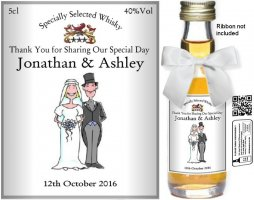 Personalised Miniatures | Wedding Favour Bottle Label: 28