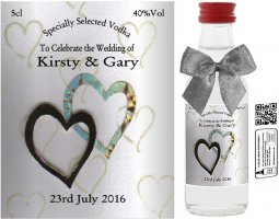 Personalised Miniatures | Wedding Favour Bottle Label: 31