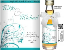 Personalised Miniature Bottles | Wedding Favour Label: 41