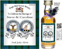 Personalised Miniature Bottles | Clan Crest Label: 11