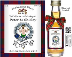 Personalised Alcohol Miniatures | Clan Crest Label: 12
