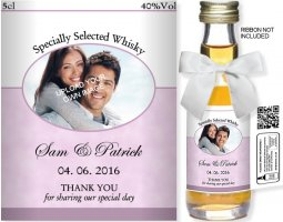 Personalised Alcohol Miniatures | Upload Your Image: 01B