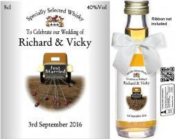 Personalised Miniatures | Wedding Favour Bottle Label: 29