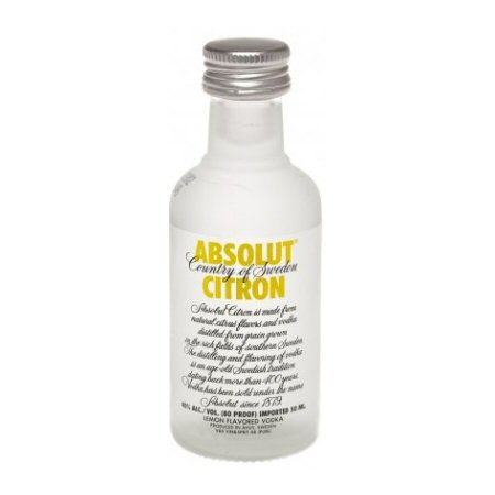 Absolut Citron Vodka Miniature Bottle 5cl Drink