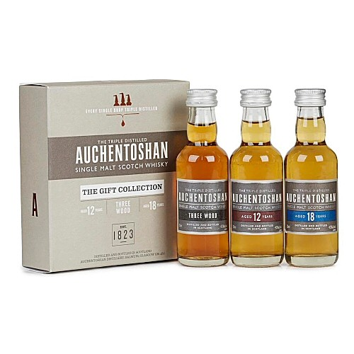 Auchentoshan Triple Gift Pack - Scotch Whisky 5cl Miniatures