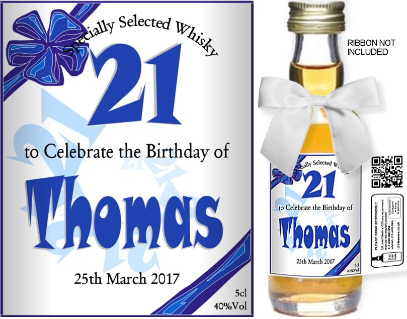 Birthday Label: 02 | Personalised Miniature Spirit Bottles