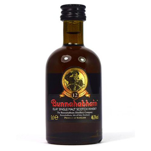 Bunnahabhain 12 yo Single Malt Scotch Miniature Whisky Bottle