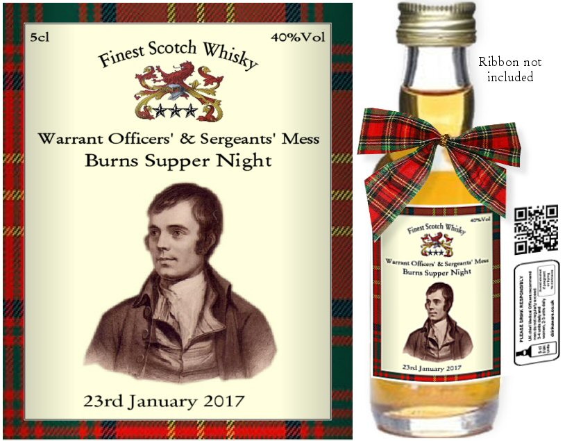 Alcohol Miniatures - Personalised Burns Night Label A
