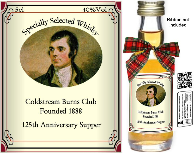 Alcohol Miniatures - Personalised Burns Night Label B