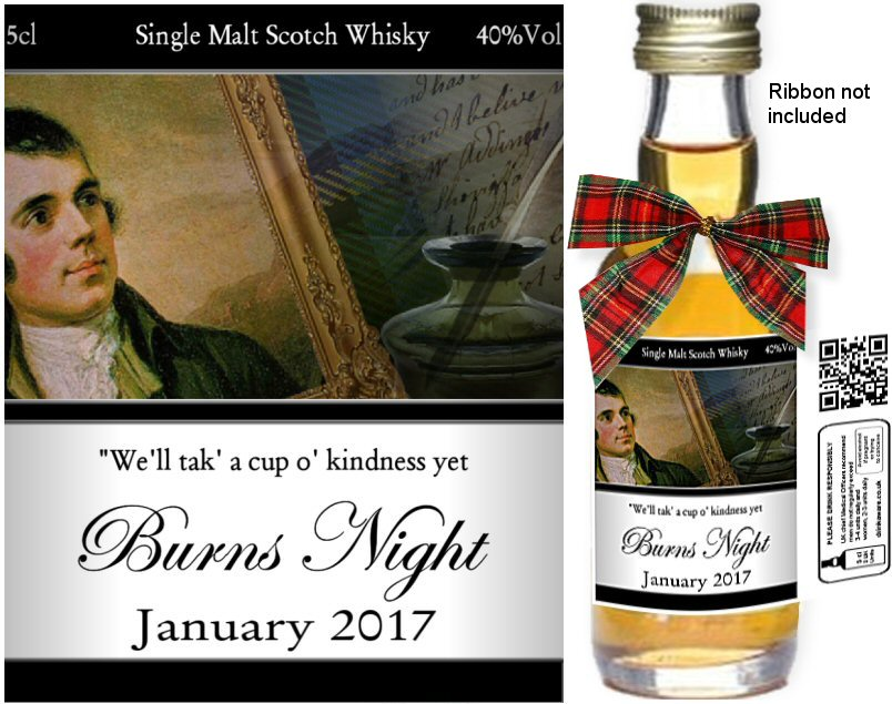 Alcohol Miniatures - Personalised Burns Night Label C