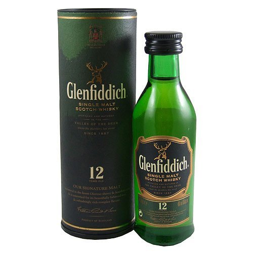 Glenfiddich 12 yo Single Malt Scotch Miniature Whisky 5cl Bottle