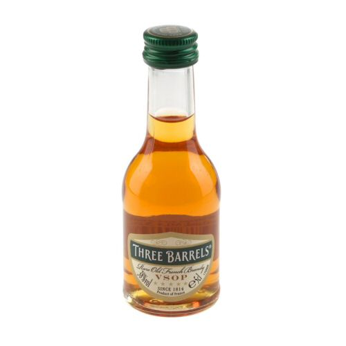 Three Barrels, VSOP Miniature Brandy 5cl Bottle