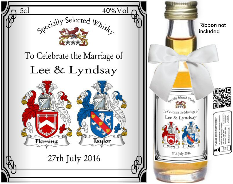 Personalised Alcohol Miniatures | Coat of Arms Label: 10