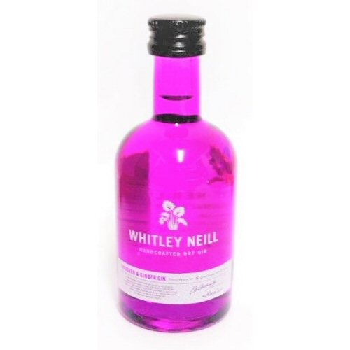 "Whitley Neill ""Rhubarb & Ginger\"" Miniature Gin 5cl Bottle"