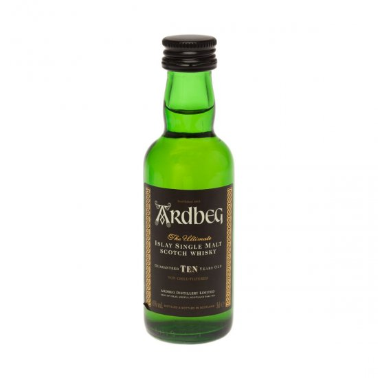 Ardbeg 10 yo Single Malt Scotch Miniature Whisky 5cl Bottle