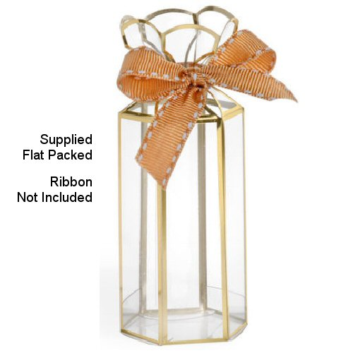 Lantern - Gold Trim (ribbons not included)