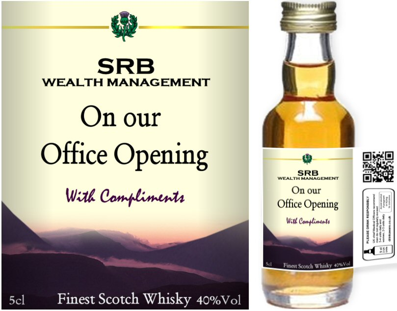 Own Brand Label: 03 | Personalised Whisky Miniatures