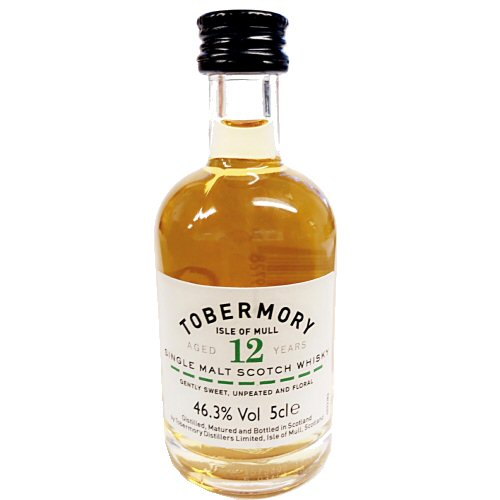 Tobermory 12 yo Single Malt Scotch Miniature Whisky 5cl Bottle